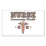 Community Health Nurse Rectangle Sticker 10 pk)
