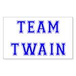 Team Twain Rectangle Sticker