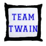 Team Twain Throw Pillow
