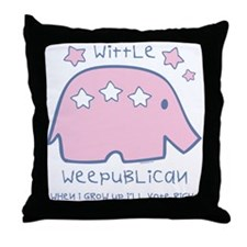 Wittle Weepublican Throw Pillow