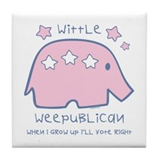 Wittle Weepublican Tile Coaster
