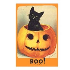 Jack O Lantern Halloween Postcards (Pkof 8)