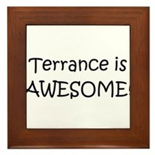 Funny Terrance name Framed Tile