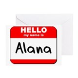 Hello my name is Alana Greeting Cards (Pk of 10)