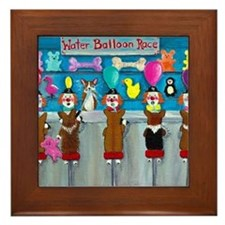 Water Balloon Race Framed Tile