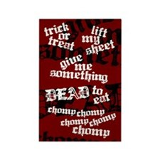 Trick or Treat Rhyme Red Rect. Magnet (100 pack)