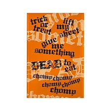 Trick or Treat Rhyme Orange Rect. Magnet (100 pack