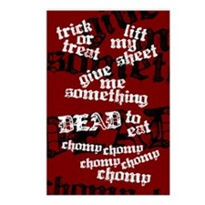 Trick or Treat Rhyme Red Postcards (Package of 8)