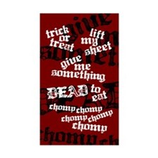 Trick or Treat Rhyme Red Rectangle Sticker 50 pk)