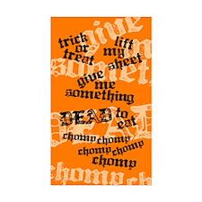 Trick or Treat Rhyme Orange Sticker (Rect. 50 pack