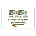 PapPap of Gifted Grandchildren Rectangle Sticker