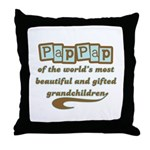 PapPap of Gifted Grandchildren Throw Pillow