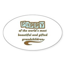 Pappy of Gifted Grandchildren Oval Decal
