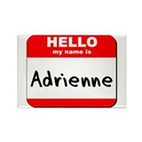 Hello my name is Adrienne Rectangle Magnet