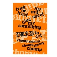 Trick or Treat Rhyme Orange Postcards (Pkg of 8)