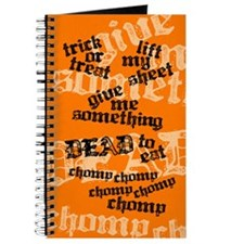 Trick or Treat Rhyme Orange Journal