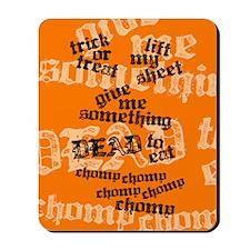 Trick or Treat Rhyme Orange Mousepad