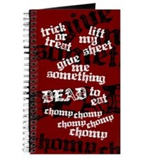 Trick or Treat Rhyme Red Journal