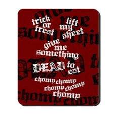 Trick or Treat Rhyme Red Mousepad