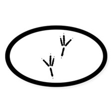 Raven Tracks Footprints Euro Oval Sticker (10 pk)