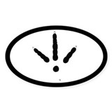 Turkey Track Pawprint Euro Oval Sticker (10 pk)