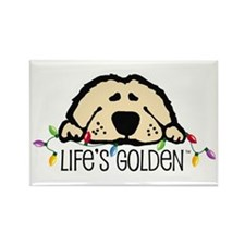Life's Golden Christmas Rectangle Magnet (100 pack