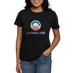 Obama Landslide Women's Black T-Shirt