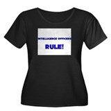 Intelligence Officers Rule! Women's Plus Size Scoo