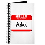 Hello my name is Ada Journal