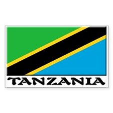 Tanzania Flag Rectangle Decal