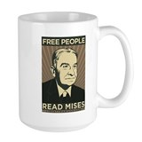 Free People Read Mises Mug