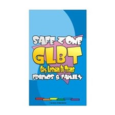 Safe Zone 3x5 Sticker - English (10 pack)