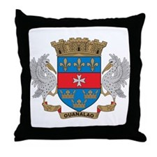St. Barthelemy Coat of Arms Throw Pillow