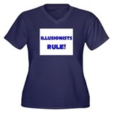 Illusionists Rule! Women's Plus Size V-Neck Dark T