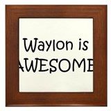 Cute Waylon Framed Tile