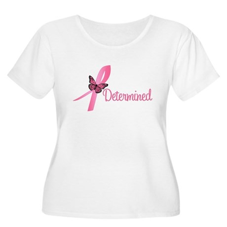 Breast Cancer (Determined) Women's Plus Size Scoop