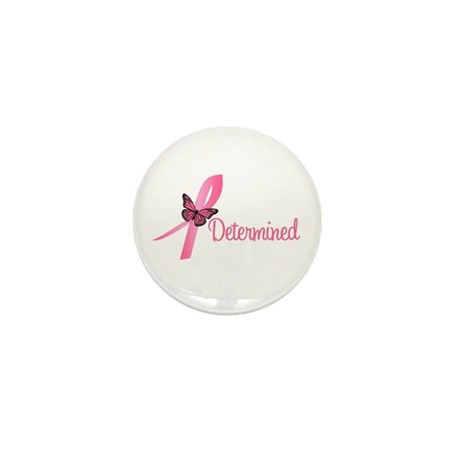 Breast Cancer (Determined) Mini Button
