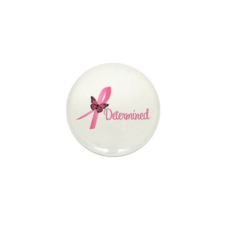 Breast Cancer (Determined) Mini Button (10 pack)