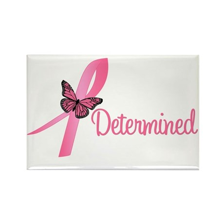 Breast Cancer (Determined) Rectangle Magnet