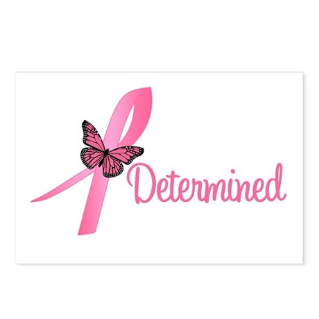 Breast Cancer (Determined) Postcards (Package of 8