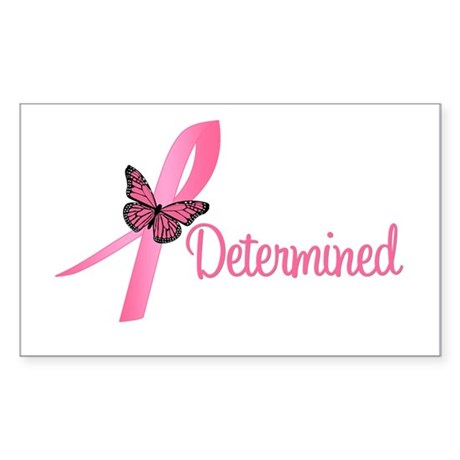 Breast Cancer (Determined) Rectangle Sticker