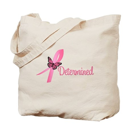 Breast Cancer (Determined) Tote Bag