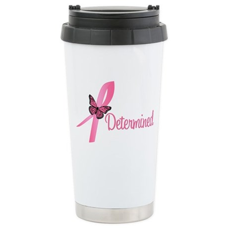Breast Cancer (Determined) Ceramic Travel Mug