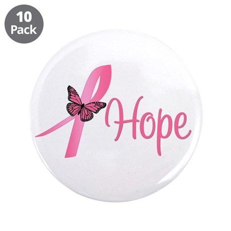 "Breast Cancer Hope 3.5"" Button (10 pack)"