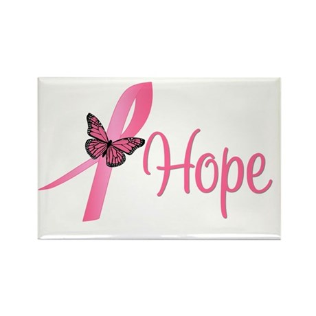 Breast Cancer Hope Rectangle Magnet (10 pack)