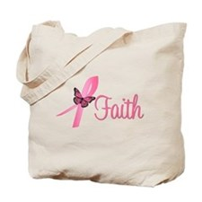 Breast Cancer Faith Tote Bag