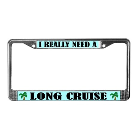 Travel Cruise License Plate Frame