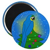 Tree Topper B&G Macaw Christmas Magnet