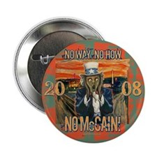 "Anti McCain Scream 2.25"" Button (10 pack)"