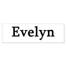 Evelyn - Personalized Bumper Bumper Sticker